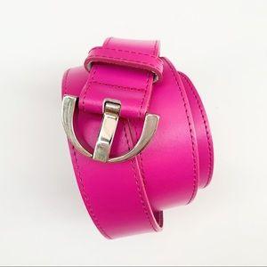 Pink Genuine Leather Belt - Medium